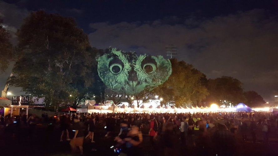 Animal Watching art, Animal Watching by Maizz Visual, Animal Watching Electric Zoo Festival, video installation art, large scale environmental awareness art, habitat destruction awareness art, Electric Zoo Festival installations,