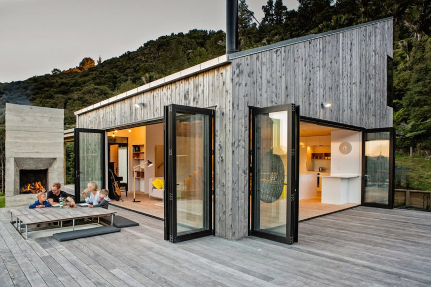 Back Country House by LTD Architectural, Back Country House by David Maurice. David Maurice by LTD Architectural, locally sourced materials cabin, bandsawn macrocarpa, macrocarpa cabin, timber and iron cabin, passive heating and ventilation cabin,