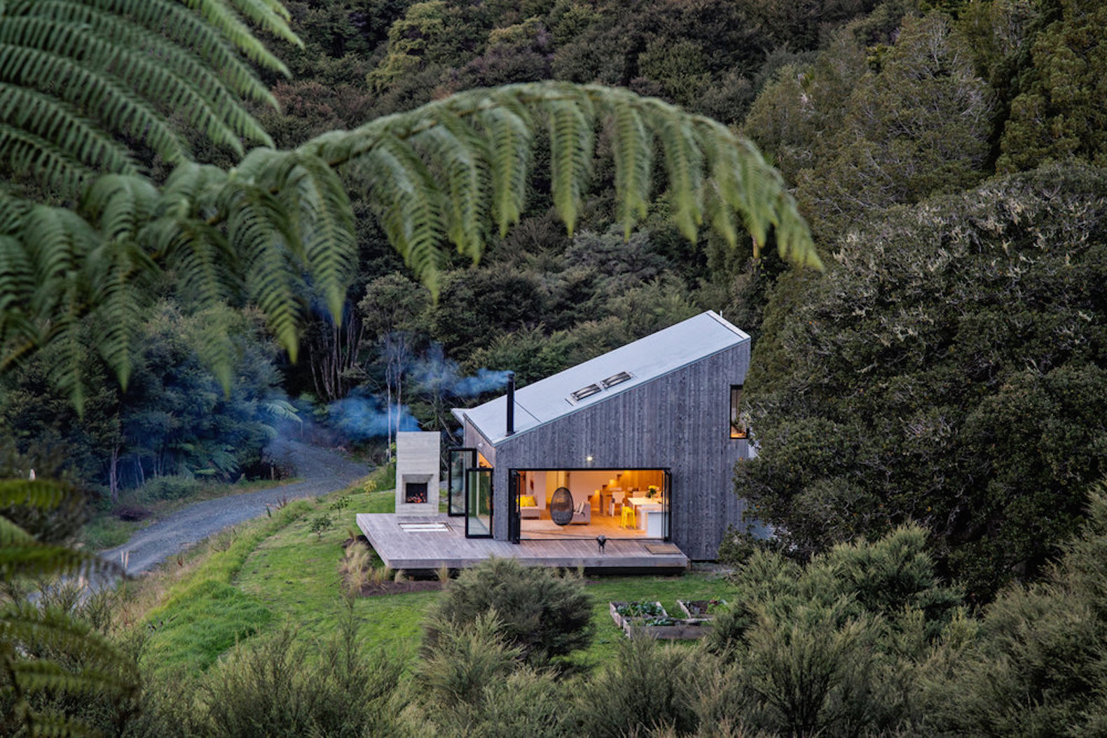 Dreamy cabin is a luxurious escape in the New Zealand bush