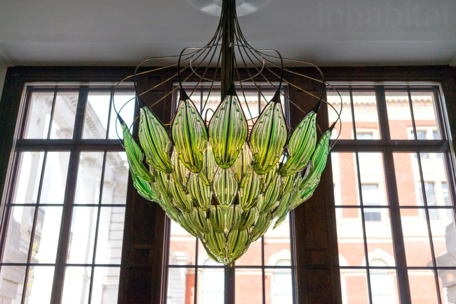 Julian Melchiorri, Breathe chandelier, algae chandelier, algae chandelier that purifies the air, algae lighting, london design festival 2017, green lighting, innovative lighting, london design week, green lamps, green chandelier, green interior design, sustainable lighting, eco lighting,