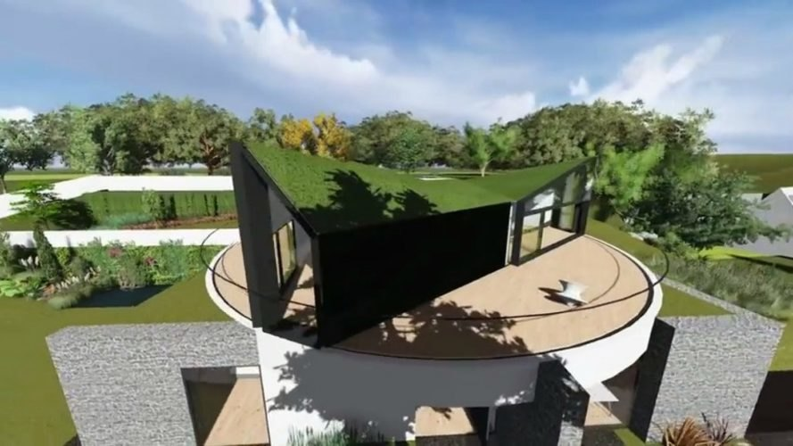 D*Haus, D*Haus Company, Devon House, Dynamic D*Haus, rotating house, Devon home, rotating home Devon, contemporary architecture, moving architecture, rotating homes, The black bird house, rotating architecture, David Ben Grunberg, Daniel Woolfson,