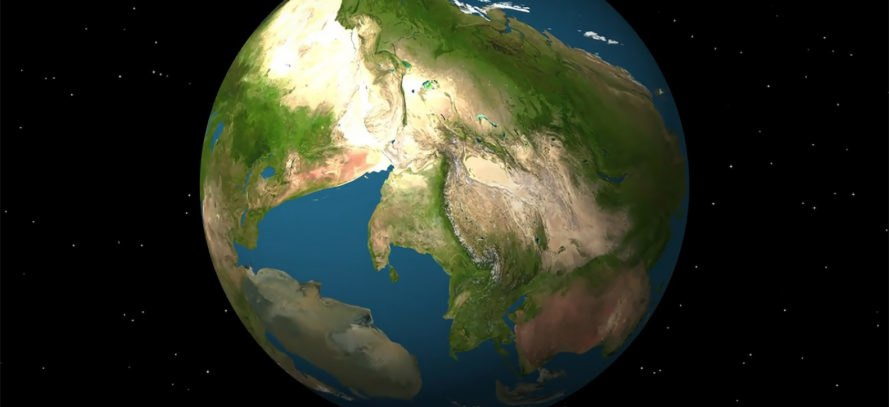 Awesome new animation envisions earth in 250 million years earth plate tectonics plates christopher scotese paleomap project northwestern university gumiabroncs Gallery