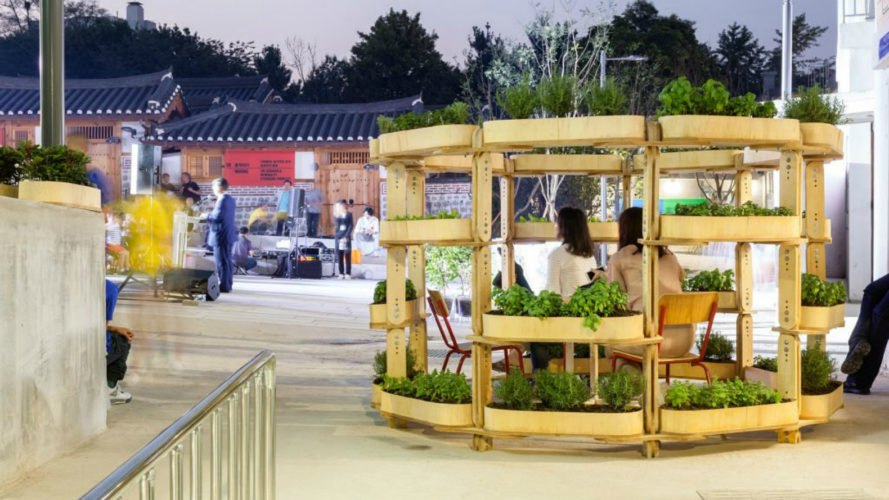 Growmore, Husum Lindholm Architects, Seoul Architecture Biennale 2017, Open Source growmore, Open Source gardening pavilion, modular building kit, modular garden kit, garden tips, garden pavilions, garden space, wooden pavilions, green pavilions, garden spaces, home gardening, modular garden systems