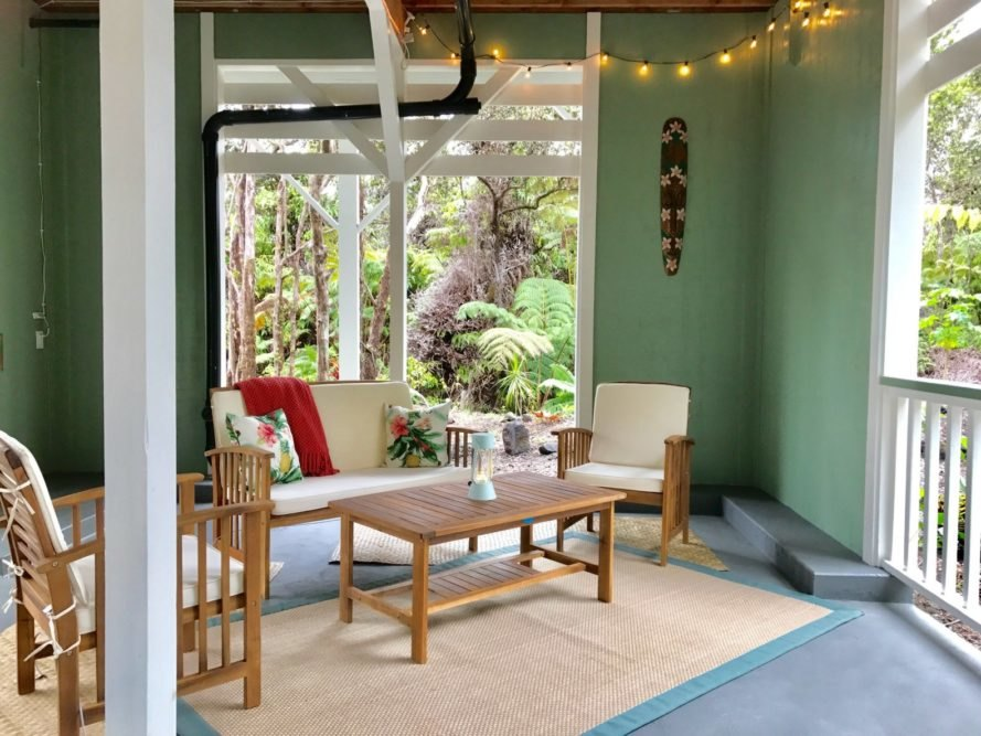 Hawaii Tiny Home, tiny home living, tiny houses, tiny home hawaii, tiny home hawaii airbnb, Hawaii tree cottage , volcano hawaii tiny home, off grid retreat hawaii, tropical tiny homes, tiny spaces, interior design tiny home, tiny home rentals, Hawaii Volcanoes National Park,