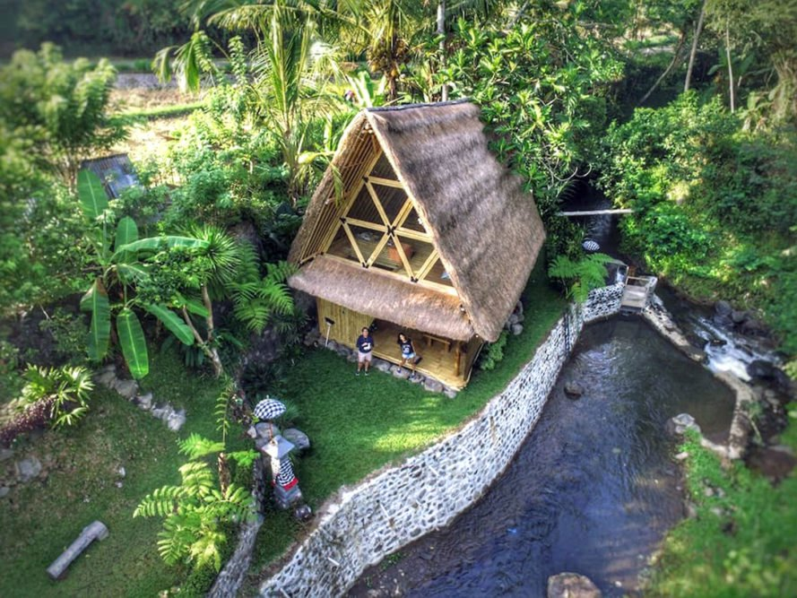 Go Way Off Grid In This Beautiful Bamboo Hut Tucked Into
