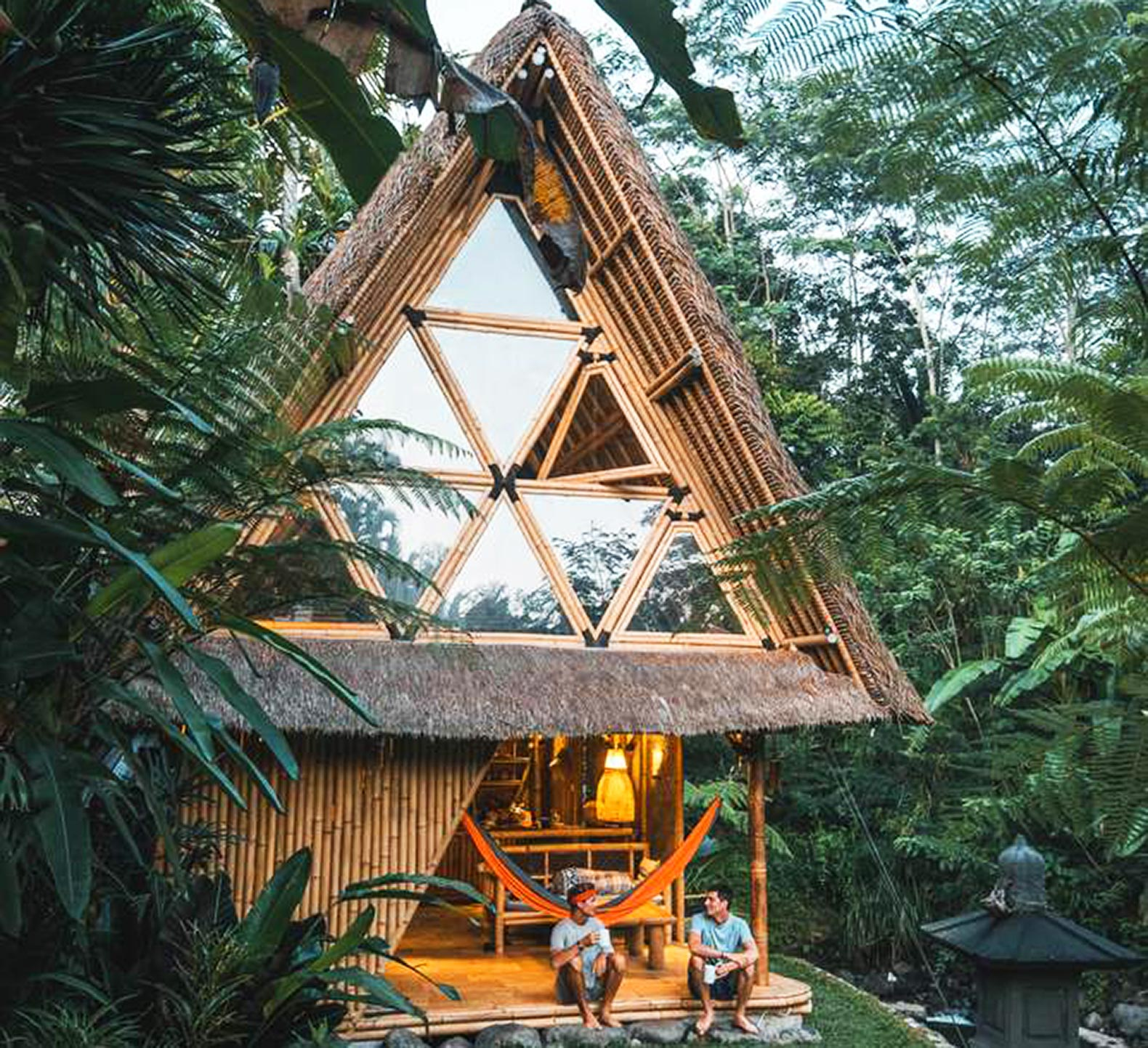 Go way off-grid in this beautiful bamboo hut tucked into Bali's lush mountains