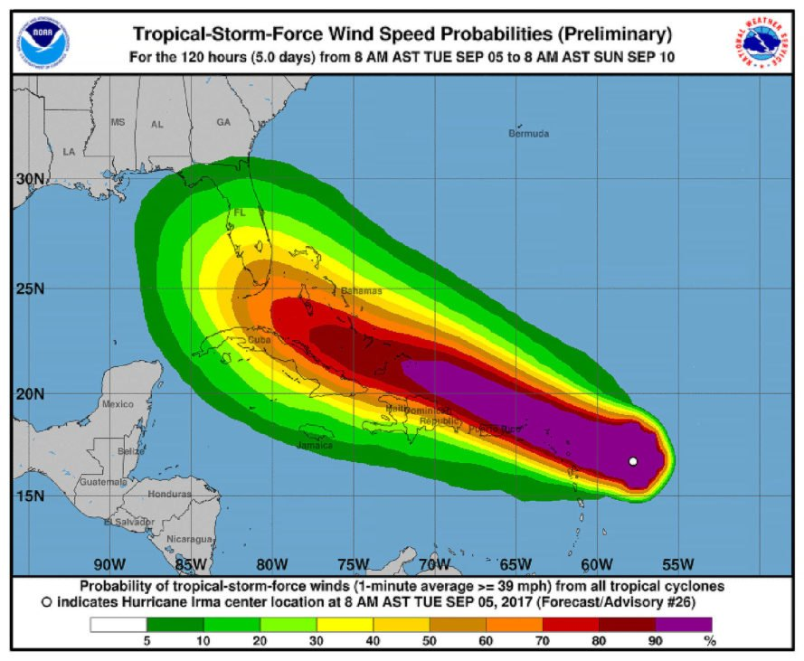 Hurricane Irma, Irma, National Hurricane Center, National Oceanic and Atmospheric Administration, NOAA, Florida, hurricane, hurricanes, wind, winds, storm, storms, weather