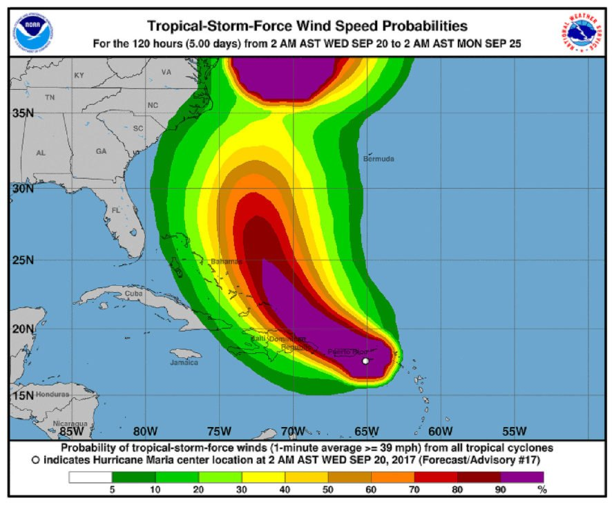 Hurricane Maria, Maria, Puerto Rico, Category 4, Category 4 hurricane, hurricane, hurricanes, storm, storms, weather, wind, winds, landfall, Atlantic