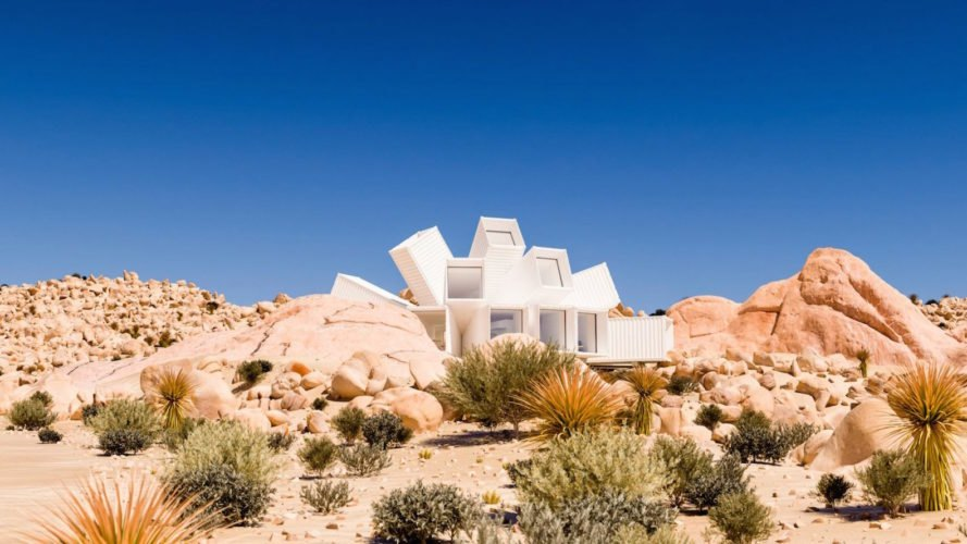 Joshua Tree Residence by James Whitaker, shipping container architecture Joshua Tree, cargotecture home California desert, California desert home, starburst shipping container architecture, Hechingen Studio, Hechingen Studio by James Whitaker,