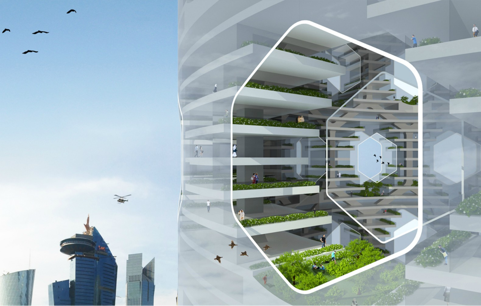 Solar Vertical City Is A Self Contained Green Infused