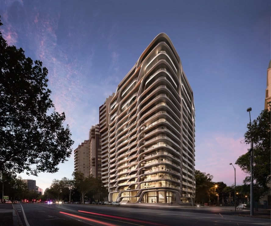 Mayfair Residential Tower by Zaha Hadid Architects, Mayfair Residential Tower architecture, Mayfair Residential Tower Melbourne, Zaha Hadid Architects in Australia, Zaha Hadid Architects residential architecture, mixed use in Melbourne, new luxury apartments in Melbourne