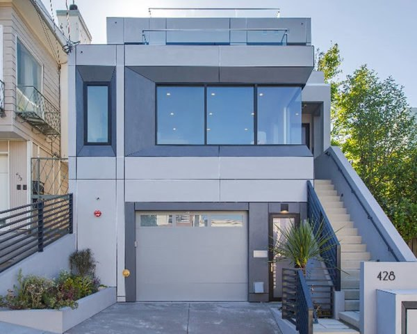 LEED Platinum, San Francisco, Noe Hill Smart Ecohome, energy efficient home, EAG Studio, solar power, native plants, drought-tolerant plants, rainwater harvesting, natural light, LED lights, green architecture