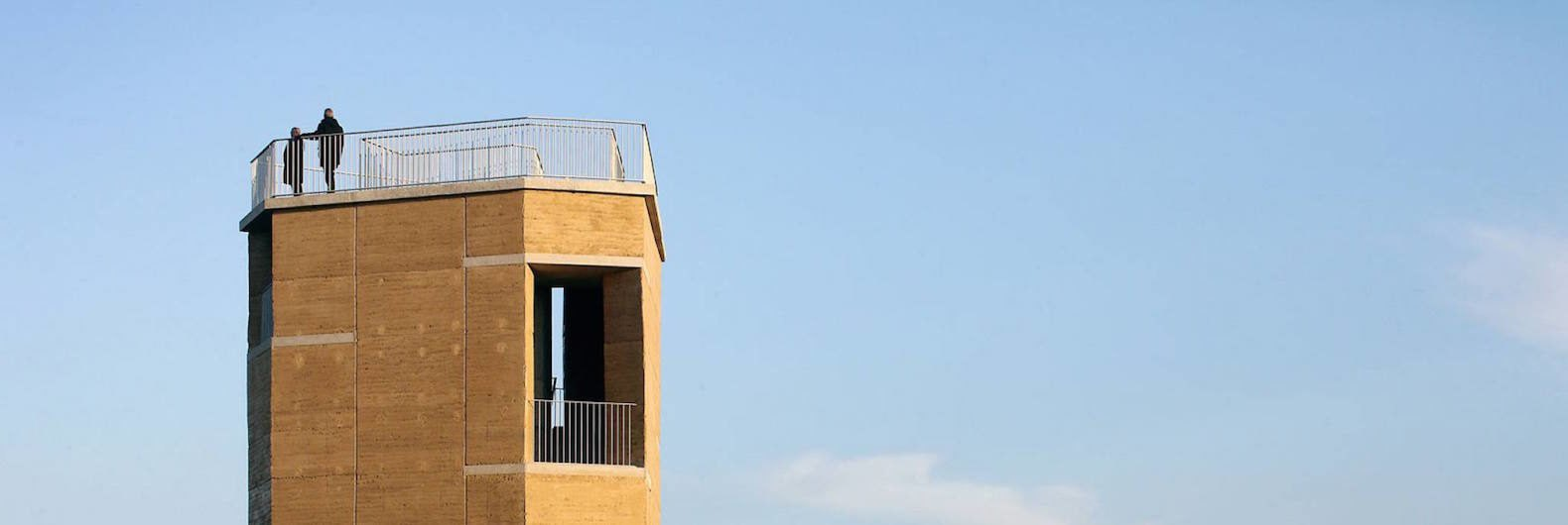 Rammed Earth Walls Clad An Observation Tower To Blend Into A Belgian Nature  Reserve