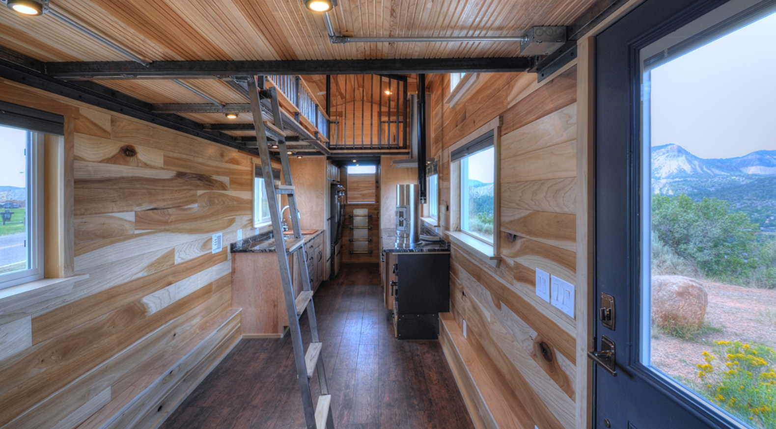 this huge 39 tiny house 39 on wheels can fit a family of five. Black Bedroom Furniture Sets. Home Design Ideas