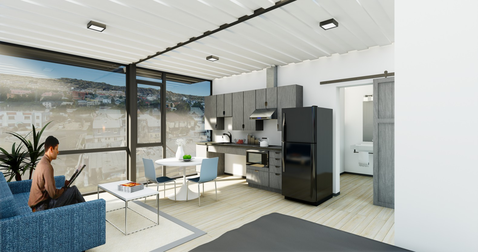 Shipping container development designed for los angeles for Affordable interior designers los angeles