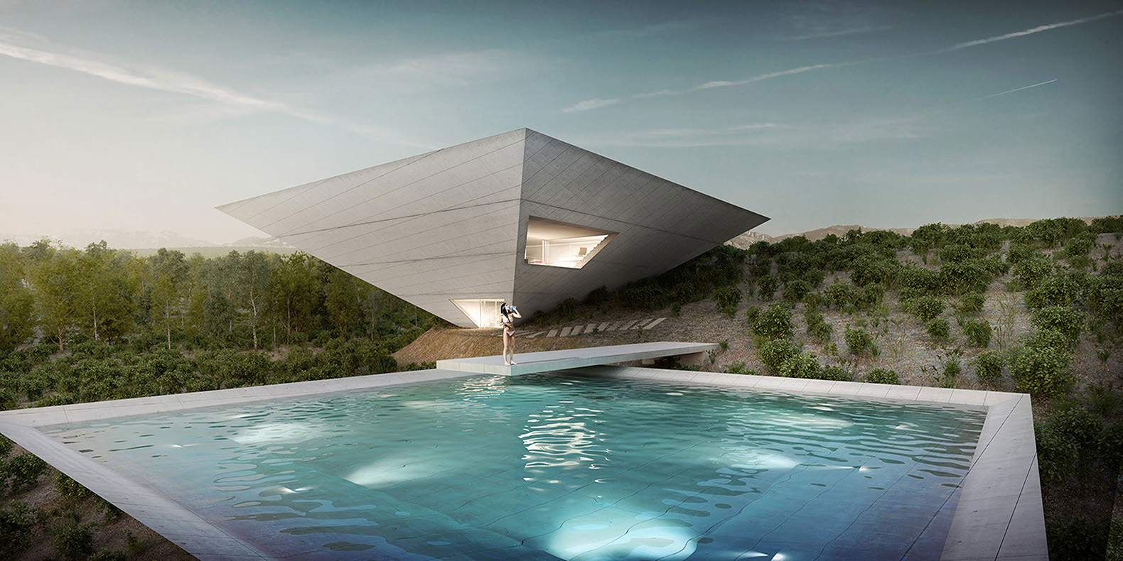Monumental inverted pyramid home in Spain will blow your mind