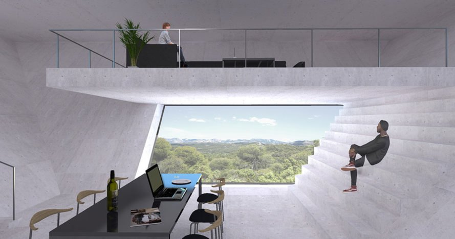 Solo House, Makoto Takei + Chie Nabeshima /TNA, pyramid, Spain, natural light, green architecture, swimming pool