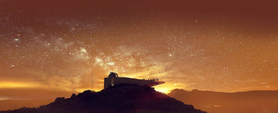 Star Observatory, Kyriakos Tsolakis Architects, Cyprus, NASA, Troodos Mountains, sci fi, Nicodemos K Tsolakis, Elena K Tsolakis, cantilevered terrace, spaceship-like architecture, Star Wars, observatory,