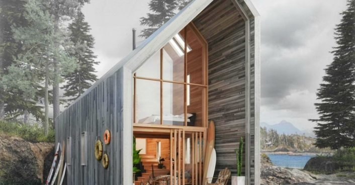 Affordable flat-pack Surf Shack shelter operates completely off the grid