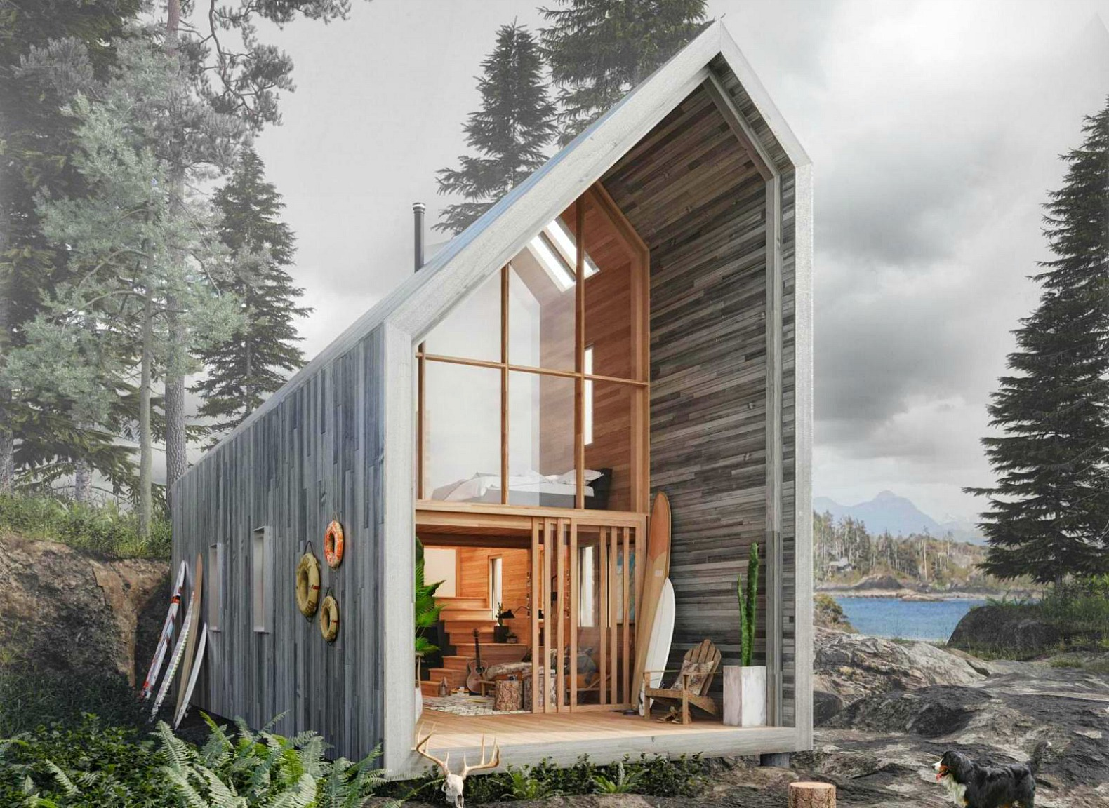 Affordable Flat Pack Surf Shack Shelter Operates