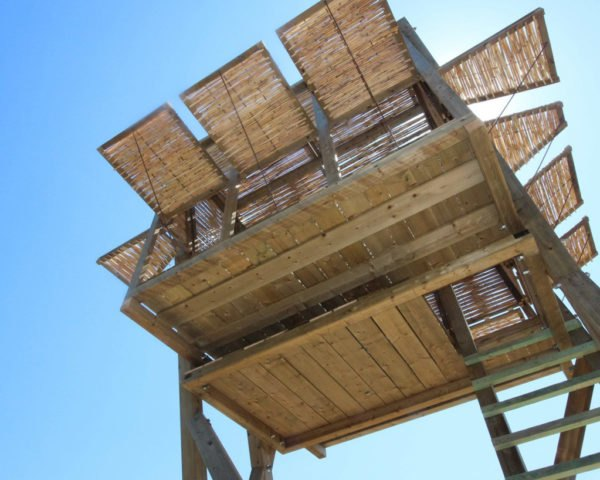 Tragata shelter, temporary structure, wooden shelter, Greece, hiboux ARCHITECTURE, Studio Genua, green architecture, timber, storage space, hammock, panoramic views