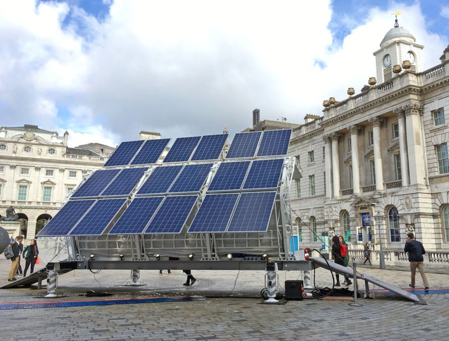 Trashpresso, Pentatonic, recycling, waste reduction, green technology, clean technology, solar power, solar, green design, sustainable design, eco design, London Design Festival, Design Frontiers
