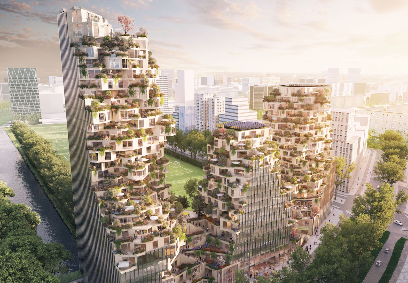 Spectacular mountain-like Valley breaks ground in Amsterdam