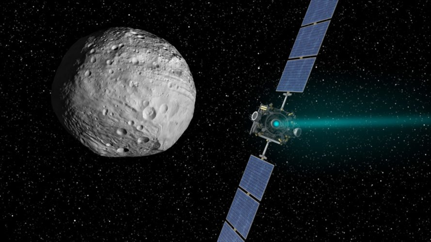 NASA, Jet Propulsion Laboratory, Dawn Mission, Dawn, Vesta, asteroid, asteroids, water, ice, ground ice, space, solar system, science