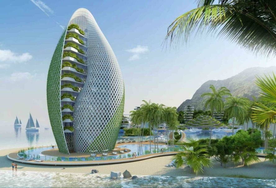 Nautilus Eco-Resort, Vincent Callebaut, eco resort, eco travel, tropical eco resorts, green hotels, Philippines eco resort, zero waste eco resort, green travel, eco resort philippines, zero-emission, zero-waste, zero poverty, Cross Laminated Timber, green design, sustainable design, sustainable architecture, solar powered resorts, resilient tourism,