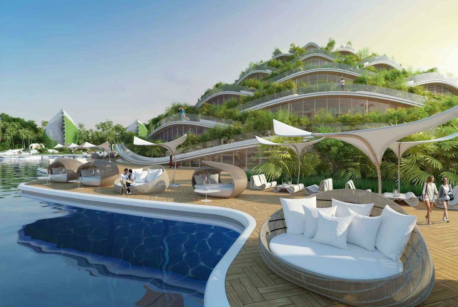 vincent callebaut 39 s visionary eco resort for the philippines features rotating energy generating. Black Bedroom Furniture Sets. Home Design Ideas