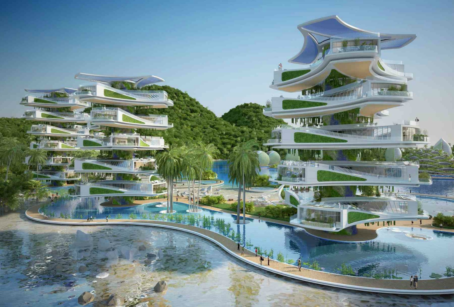 Visionary Eco Resort Design For The Philippines Features Rotating Seashell Towers on Eco Friendly House Plans Designs