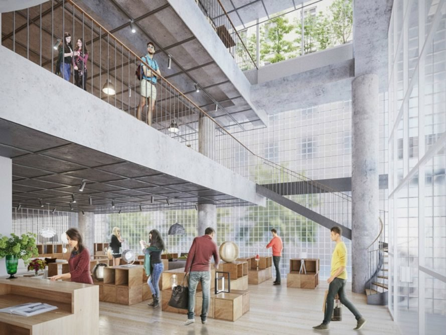 Vo Trong Nghia Architects, VTN Nanoco, Vo Trong Nghia Architects Nanoco Offices, translucent buildings, bamboo buildings, vietnam architecture, VTN architects, green design, urban design, green spaces vietnam, glass towers, glass highrises vietnam, sustainable design, green design,