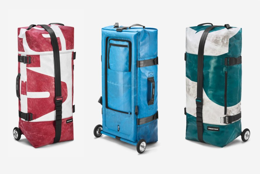 Freitag Zippelin, Freitag, eco-friendly suitcases, sustainable suitcases, recycled suitcases, eco-friendly luggage, sustainable luggage, recycled luggage, recycled tarps