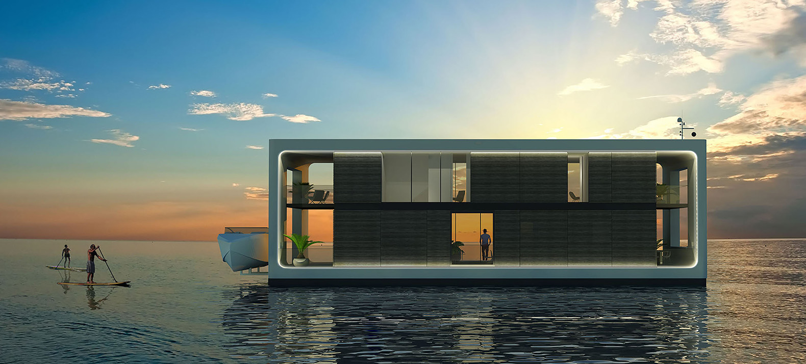 These Hurricane Proof Floating Homes Are Packed With Green