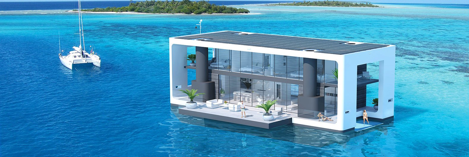 These hurricane proof floating homes are packed with green features inhabitat green design - Floating prefabricated home ...