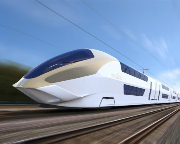 AeroLiner 3000 by Andreas Vogler Studio, Red Dot: Design Concept 2017, double decker high speed trains, aerospace inspired trains, Innotras prototype, AeroLiner 3000, German Aerospace Center dLR
