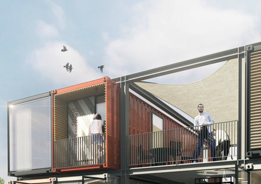 Arkitema Architects, Beat Box, beat box apartments, shipping container apartments in denmark, shipping container buildings, shipping container architecture, green design, sustainable building materials, shipping container homes, container buildings,