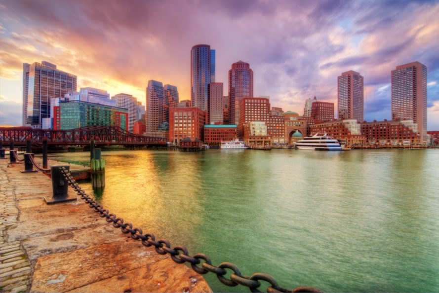Boston, Boston Harbor, sea level rise, climate change, skyline