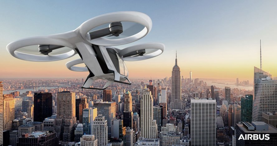 Airbus, CityAirbus, vertical take-off and landing, vertical take-off and landing vehicle, VTOL, aerial, aerial taxi, aerial taxis, flying taxi, flying taxis, flying vehicle, flying vehicles, transportation, green transportation, electric, electric motors, battery, city