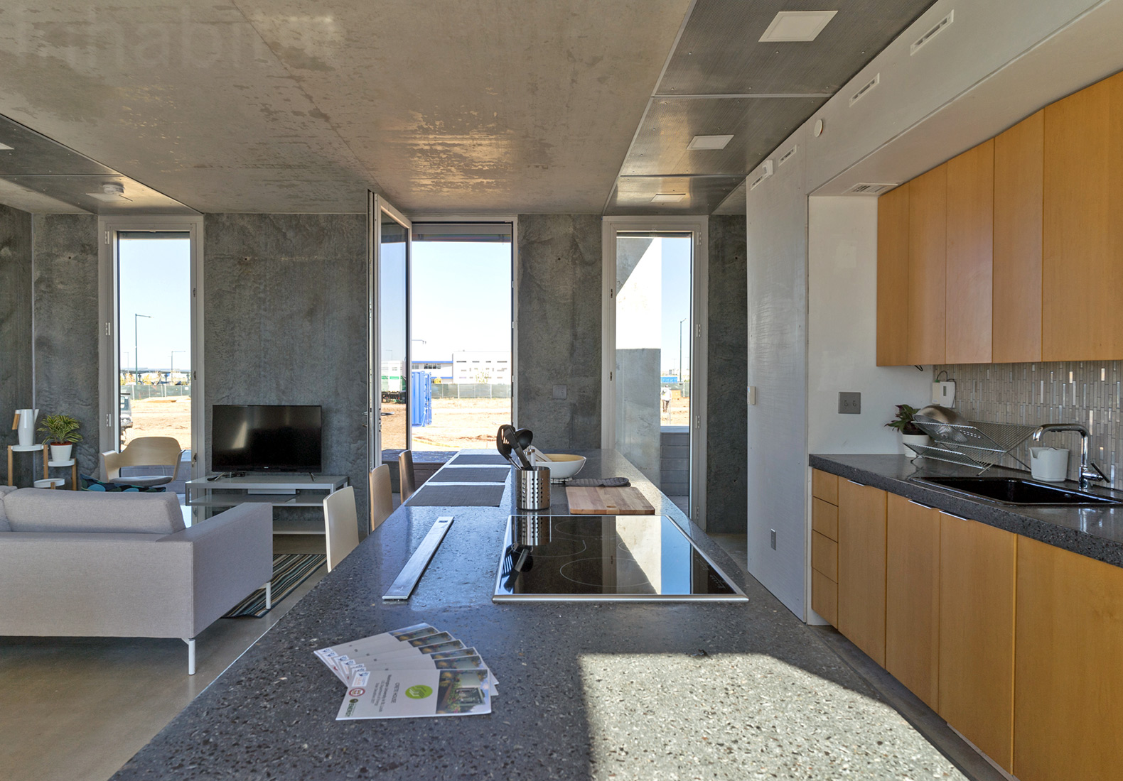 This prefab concrete house harvests rainwater with food - Sun garden manufactured home community ...