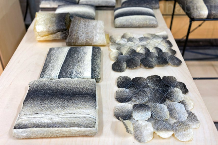 Fish Skin Textiles, Helene Christina Pedersen, salvaged materials, recycled, fish skin, london design festival, design, green interiors, sustainable design, green design, eco design, green furniture, green products, sustainable furniture, green interiors, eco decor, experimental design