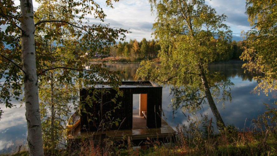 Floating sauna by Small Architecture Workshop, Small Architecture Workshop sauna, Small Architecture Workshop design build, Åmot floating sauna, Åmot bed and breakfast,