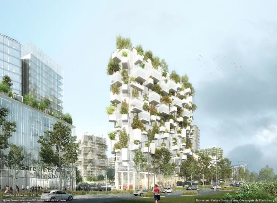 Forêt Blanche by Stefano Boeri, Forêt Blanche Paris, Forêt Blanche Balcon sur Paris, Forêt Blanche France, French Vertical Forest, Vertical Forest architecture, James Corner Field Operations in Paris