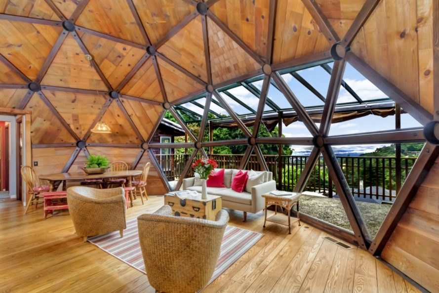 Geodesic Dome, Geodesic Dome for sale, Geodesic Dome architecture, Geodesic Dome homes, dome houses, dome architecture, dome homes san francisco, Reliez Valley homes, fun real estate, reclaimed wood, green design, resilient home design, dome home design, geodesic architecture