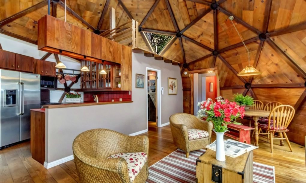 Couple Spent Seven Years Handcrafting Their Dream Geodesic Home Custom Dome Home Interiors