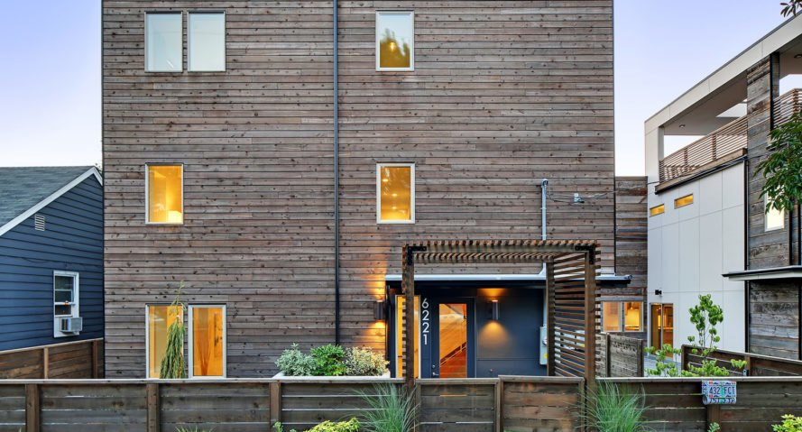 Georgetown North, Georgetown South, net zero, Dwell Development, Seattle, 5-Star Built Green, energy-efficient homes, green architecture, natural light, reclaimed wood, solar roof, solar panels