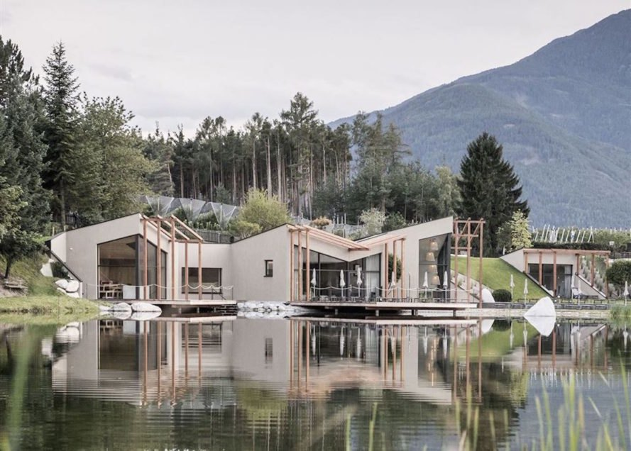 Hotel Seehof by noa, Hotel Seehof renovation, Hotel Seehof in northern Italy, Italy eco resorts, Hotel Seehof, Hotel Seehof network of architecture, Flötscher Weiher,