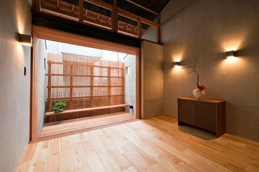 atelier Luke, Ichijoji House, Kyoto Japan, japanese architecture, minimalist architecture, kyoto design, Japanese row house typology, japanese furniture, home design, japanese interior design, japanese homes, kyoto homes, traditional japanese home design, row houses kyoto