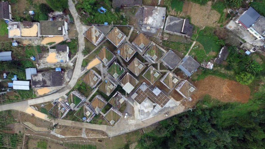 Jintai Village by Rural Urban Framework, Rural Urban Framework, Rural Urban Framework in China, post-disaster construction, China post earthquake construction, self sufficient rural architecture in China