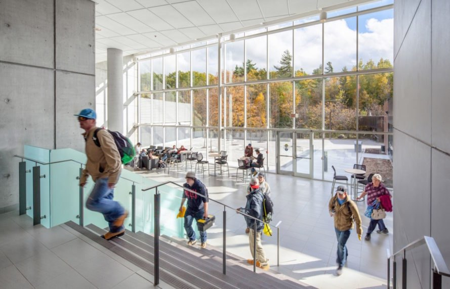 Kawartha Trades + Technology Centre by Perkins + Will, Kawartha Trades + Technology Centre, Kawartha Trades + Technology Centre Ontario, sustainable academic buildings, energy efficient school buildings,